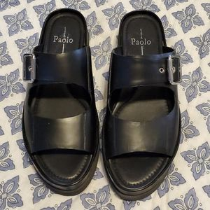 PAOLO Linea sandals 8.5 Double strap Leather black
